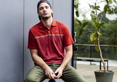 トラヴィスマシュー Travis Mathew メンズ ロゴ刺繍 チェストライン カラー切替 半袖 ポロシャツ 7AD014 2021年モデル