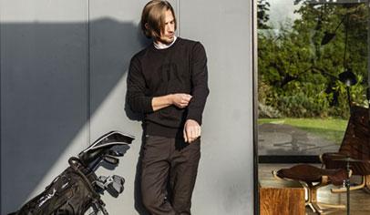 トラヴィスマシュー Travis Mathew メンズ ボタニカル柄 ボーダー 半袖 モックネックシャツ 7AD019 2021年モデル