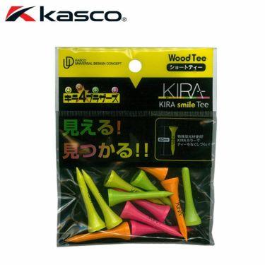 キャスコ KIRA キラ スマイル ウッド ティー ショート 40mm(12本入り)