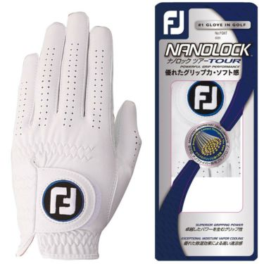 フットジョイ FootJoy NANOLOCK TOUR ナノロックツアー ゴルフグローブ FGNT17WT ホワイト