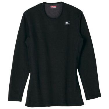 ミズノ MIZUNO レディース ブレスサーモ ヘビーウエイト 長袖 インナーシャツ A2JA5714 2018年継続モデル ブラック(A2JA571409)