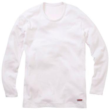 ミズノ MIZUNO メンズ ブレスサーモ ヘビーウエイト 長袖 インナーシャツ A2JA5514 2018年継続モデル ホワイト(A2JA551401)
