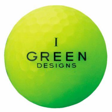 グリーンデザインズ ネオンカラー 高反発 ゴルフボール 1ダース (12球入り) グリーン