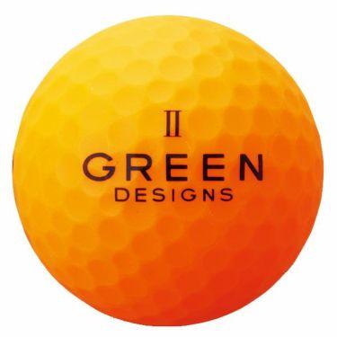 グリーンデザインズ ネオンカラー 高反発 ゴルフボール 1ダース (12球入り) オレンジ