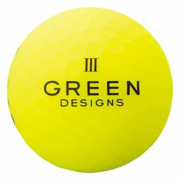 グリーンデザインズ ネオンカラー 高反発 ゴルフボール 1ダース (12球入り) イエロー