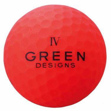 グリーンデザインズ ネオンカラー 高反発 ゴルフボール 1ダース (12球入り) レッド