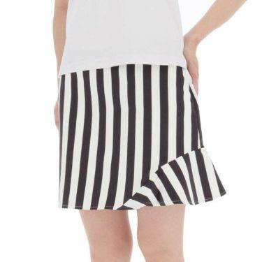ルコック Le coq sportif レディース ストライプ柄 ストレッチ インナーパンツ一体型 スカート QGWNJE03 2019年モデル 商品詳細2