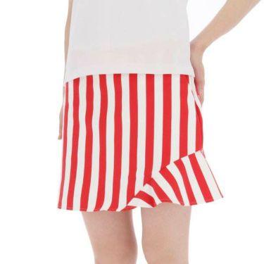 ルコック Le coq sportif レディース ストライプ柄 ストレッチ インナーパンツ一体型 スカート QGWNJE03 2019年モデル 商品詳細4