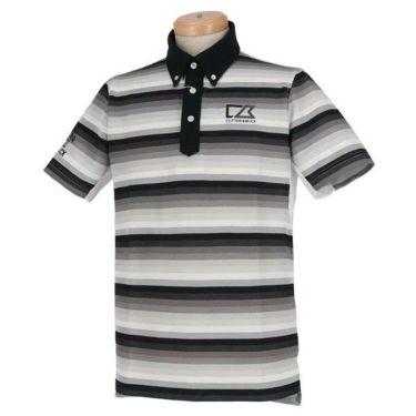 カッター&バック CUTTER&BUCK メンズ 鹿の子 刺繍 ボーダー柄 半袖 ボタンダウン ポロシャツ CGMNJA16 2019年モデル 商品詳細2