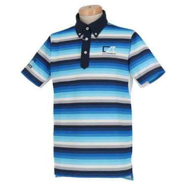 カッター&バック CUTTER&BUCK メンズ 鹿の子 刺繍 ボーダー柄 半袖 ボタンダウン ポロシャツ CGMNJA16 2019年モデル 商品詳細4