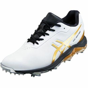 asics アシックス メンズ ゲルエース プロ4 ソフトスパイク ゴルフシューズ 1113A013 ホワイト/リッチゴールド 101