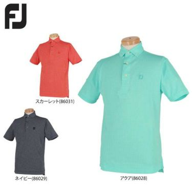 フットジョイ FootJoy メンズ ダイヤ柄 ジャガード 半袖 ボタンダウン ポロシャツ FJ-S19-S05 2019年モデル