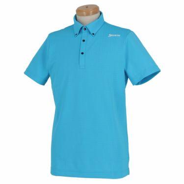 【ss特価】△スリクソン SRIXON メンズ 刺繍 ロゴプリント 半袖 ボタンダウン ポロシャツ RGMNJA25 2019年モデル ブルー(BL00)