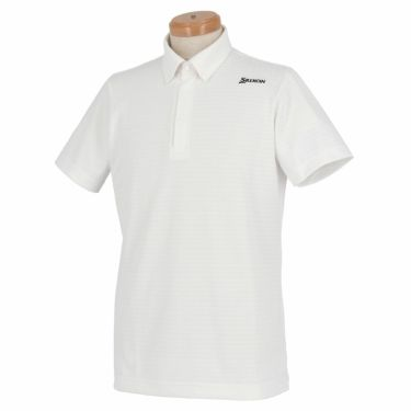 【ss特価】△スリクソン SRIXON メンズ 刺繍 ロゴプリント 半袖 ボタンダウン ポロシャツ RGMNJA25 2019年モデル ホワイト(WH00)