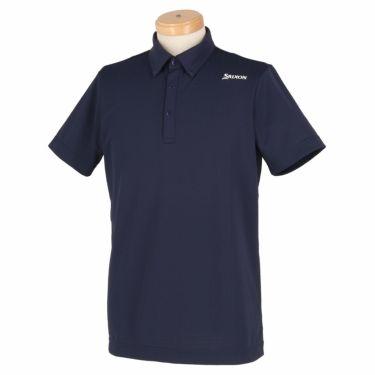 【ss特価】△スリクソン SRIXON メンズ 刺繍 ロゴプリント 半袖 ボタンダウン ポロシャツ RGMNJA25 2019年モデル ネイビー(NV00)
