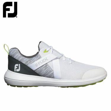 フットジョイ FootJoy メンズ FLEX フレックス スパイクレス ゴルフシューズ ホワイト 56101