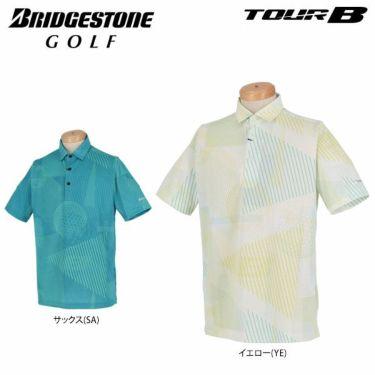ブリヂストンゴルフ TOUR B メンズ 幾何学模様 総柄プリント 半袖 ポロシャツ NGMN1A 2019年モデル