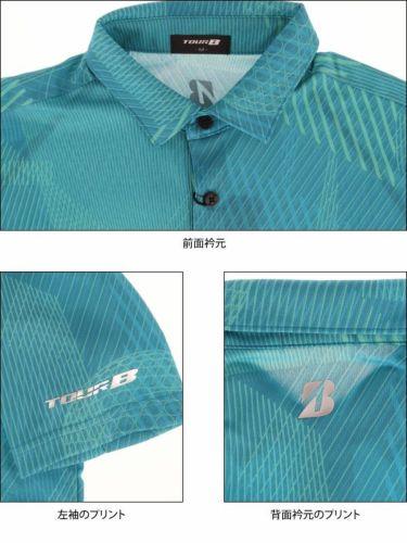 ブリヂストンゴルフ TOUR B メンズ 幾何学模様 総柄プリント 半袖 ポロシャツ NGMN1A 2019年モデル 商品詳細6
