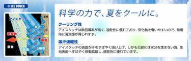 ミズノ MIZUNO メンズ アイスタッチ 半袖 Vネック ノースリーブ インナーシャツ C2JA9104 商品詳細4