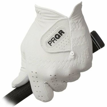 プロギア PRGR レザーコンポジットモデル メンズ ゴルフグローブ PG-119 W ホワイト