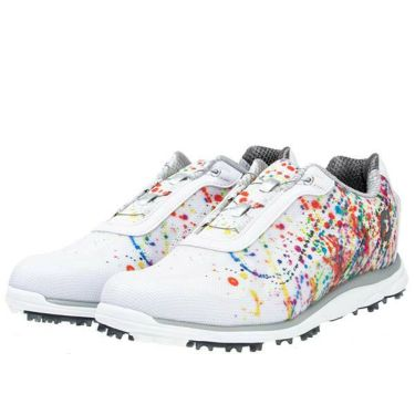 フットジョイ FootJoy emPOWER Boa エンパワー スパイクレス ボア 2019年モデル レディース ゴルフシューズ 98054 ホワイト+プリント