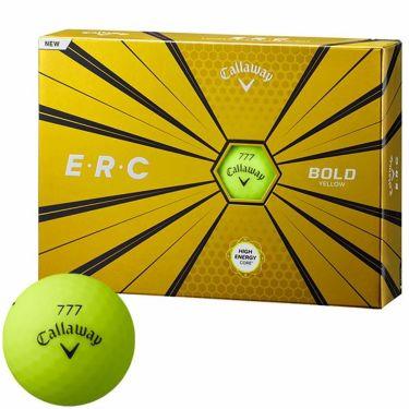 キャロウェイ E・R・C ゴルフボール 2019年モデル ボールドイエロー 1ダース(12球入り)