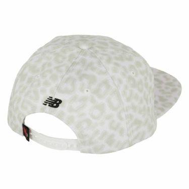 ニューバランスゴルフ メンズ レオパード柄 SPORT フラットブリム キャップ 012-9287004 030 ホワイト 2019年モデル 商品詳細3
