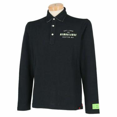 ニューバランスゴルフ メンズ 鹿の子 ロゴデザイン 長袖 ポロシャツ 012-9269003 2019年モデル ブラック(010)