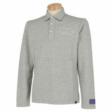 ニューバランスゴルフ メンズ 鹿の子 ロゴデザイン 長袖 ポロシャツ 012-9269003 2019年モデル グレー(020)