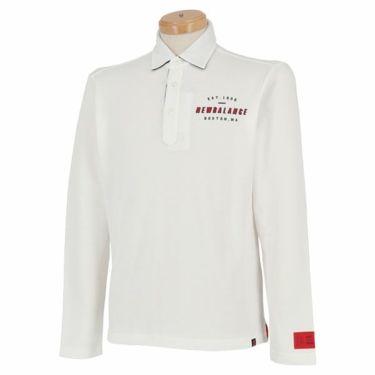 ニューバランスゴルフ メンズ 鹿の子 ロゴデザイン 長袖 ポロシャツ 012-9269003 2019年モデル ホワイト(030)