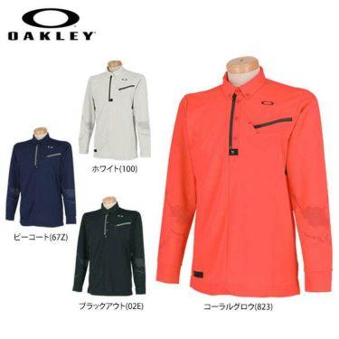 オークリー OAKLEY メンズ SKULL ボタンダウン 長袖 ハーフジップ ポロシャツ 434484JP 2019年モデル