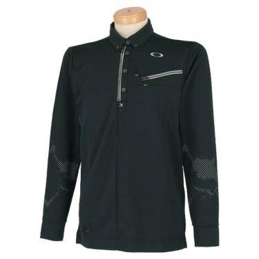オークリー OAKLEY メンズ SKULL ボタンダウン 長袖 ハーフジップ ポロシャツ 434484JP 2019年モデル 商品詳細2