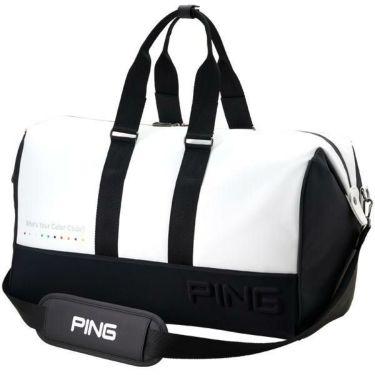 ピン PING エンボスロゴ メンズ ボストンバッグ GB-C192 34859-01 WHITE/BLACK