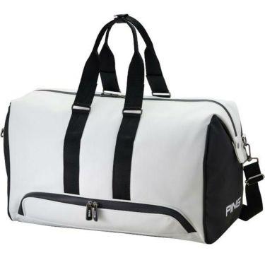 ピン PING エンボスロゴ メンズ ボストンバッグ GB-C192 34859-01 WHITE/BLACK 商品詳細2