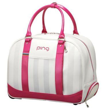 ピン PING ローラー付き レディース ボストンバッグ GB-L193 34865-01 WHITE/PINK