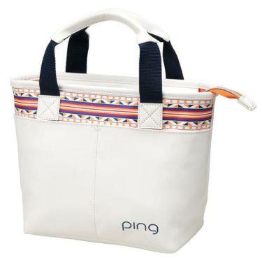 ピン PING 多目的 レディース ラウンドポーチ GB-L192 34864-03 WHITE/ORANGE