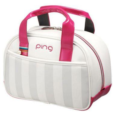 ピン PING レディース ラウンドポーチ GB-L194 34866-01 WHITE/PINK