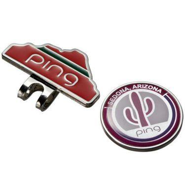 ピン PING サボテン クリップマーカー AC-L191 34876-01 WHITE/PINK