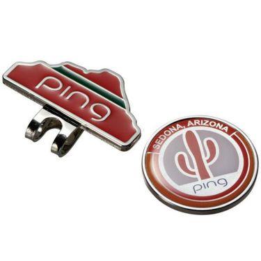 ピン PING サボテン クリップマーカー AC-L191 34876-03 WHITE/ORANGE