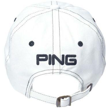ピン PING メンズ コットン アンストラクチャー 6パネル Mr.PING キャップ 33956-01 WHITE/BLACK 商品詳細2
