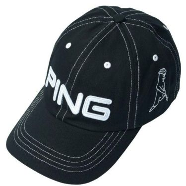 ピン PING メンズ コットン アンストラクチャー 6パネル Mr.PING キャップ 33956-02 BLACK/WHITE