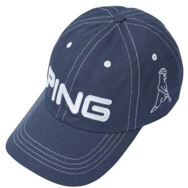 ピン PING メンズ コットン アンストラクチャー 6パネル Mr.PING キャップ 33956-03 NAVY/WHITE