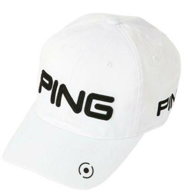 ピン PING メンズ 6パネル アンストラクチャー ツアー P.Y.B キャップ 33850-01 WHITE/BLACK