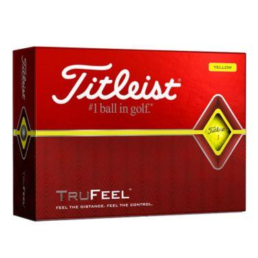 タイトリスト TRUFEEL トゥルーフィール ゴルフボール イエロー 1ダース(12球入り)