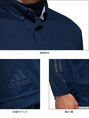 アディダス adidas メンズ 立体ロゴ 半袖 ボタンダウン ポロシャツ & 長袖 ハイネック インナーシャツ FYO93 2019年モデル 商品詳細8