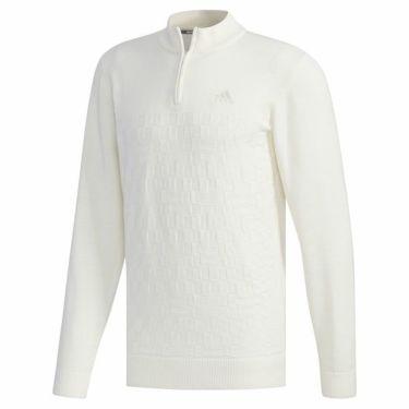 アディダス adidas メンズ 格子編み ロゴ刺繍 長袖 ハーフジップ セーター FYO85 2019年モデル 商品詳細2