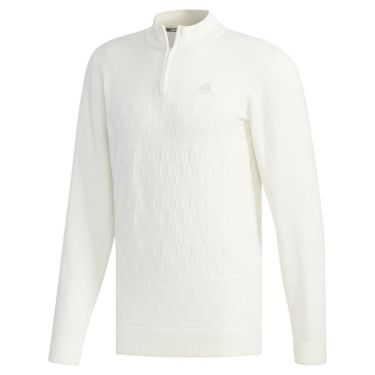 アディダス adidas メンズ 格子編み ロゴ刺繍 長袖 ハーフジップ セーター FYO85 2019年モデル 商品詳細4