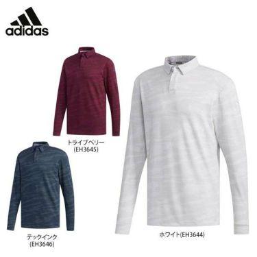 アディダス adidas メンズ 総柄プリント カモフラージュ柄 長袖 ボタンダウン ポロシャツ FYO90 2019年モデル