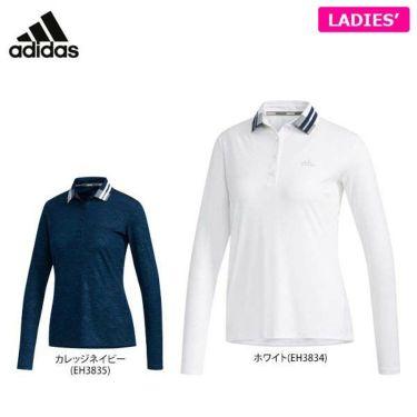 アディダス adidas レディース モノグラムプリント 長袖 ポロシャツ FYO39 2019年モデル