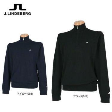 Jリンドバーグ J.LINDEBERG メンズ メリノウール 長袖 ハーフジップ セーター 071-11914 2019年モデル